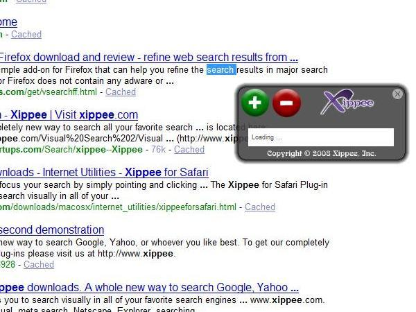 Xippee Safari Plug-in Screenshot