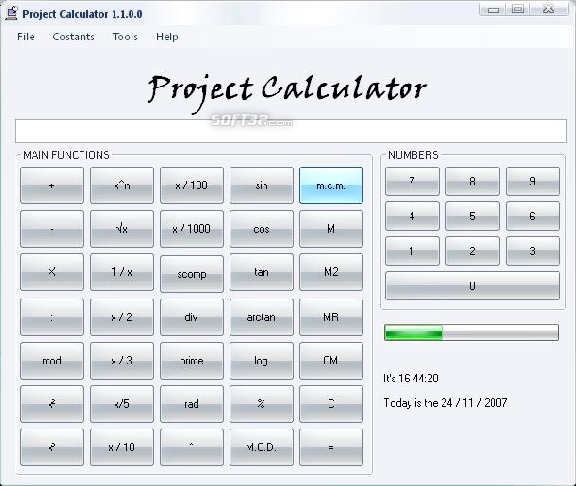 Project Calculator Screenshot