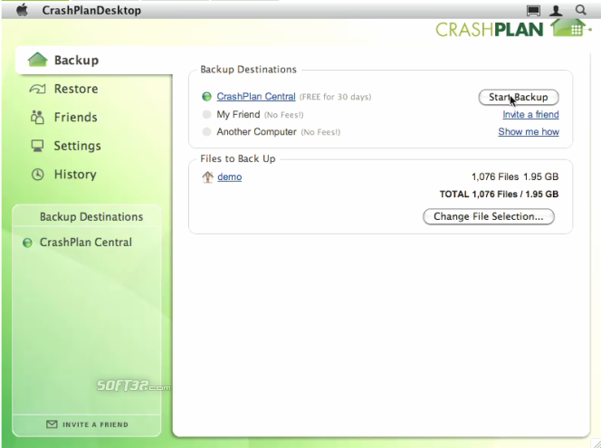 CrashPlan Screenshot 1
