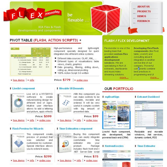 Flex/Flash components, RIA - FlexMonster Screenshot 3