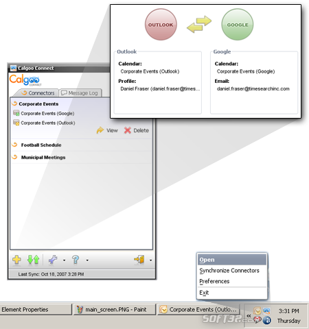 Calgoo Connect Screenshot