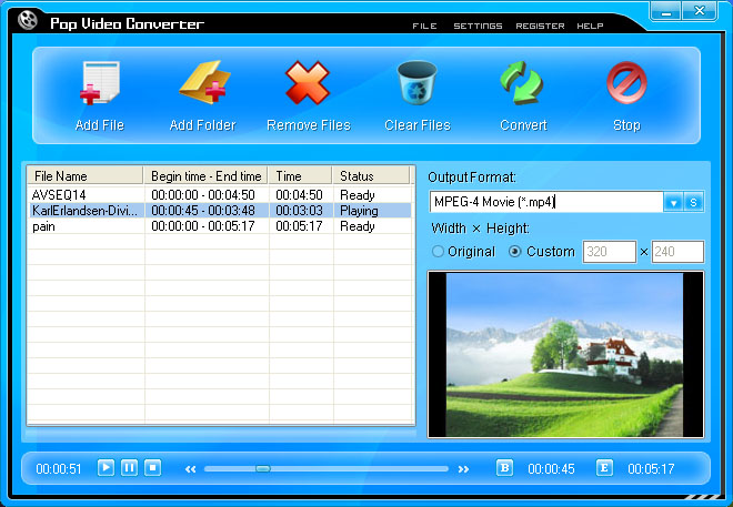 Pop Video Converter Screenshot 1