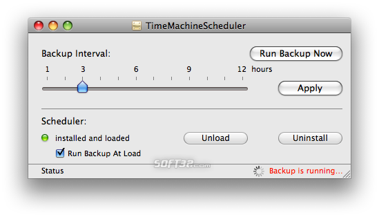 TimeMachineScheduler Screenshot