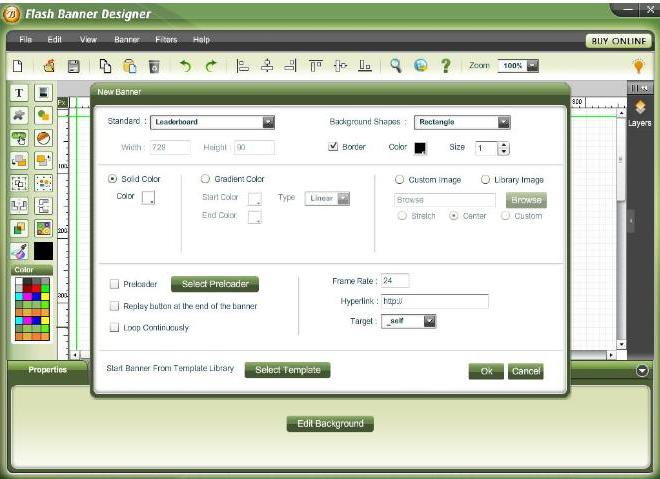 Websmartz Banner Designer Screenshot