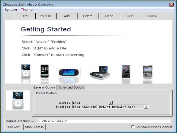 CheapestSoft Total Video File Converter Screenshot 1