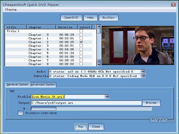 CheapestSoft Fast DVD Ripper Screenshot 2