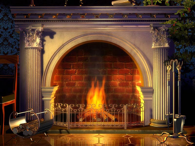 Relaxing Fireplace Screensaver Screenshot