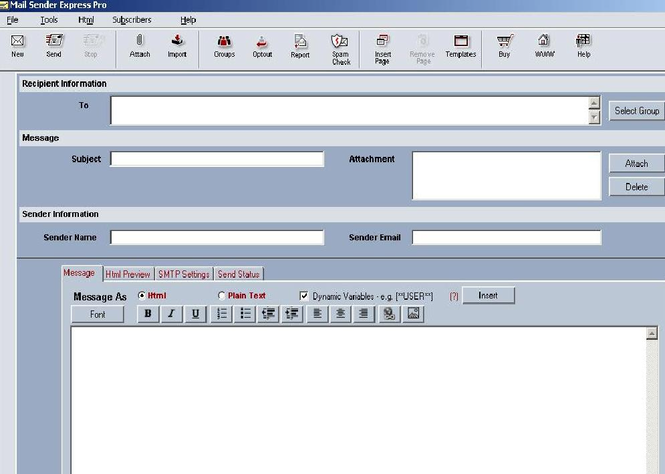 Email Sender Express Pro Screenshot
