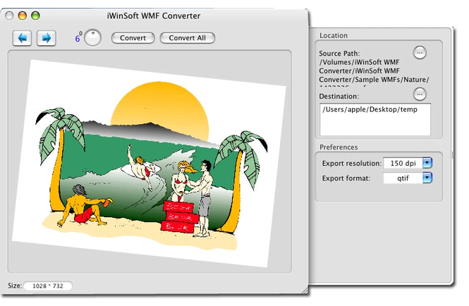iWinSoft WMF Converter for Mac Screenshot