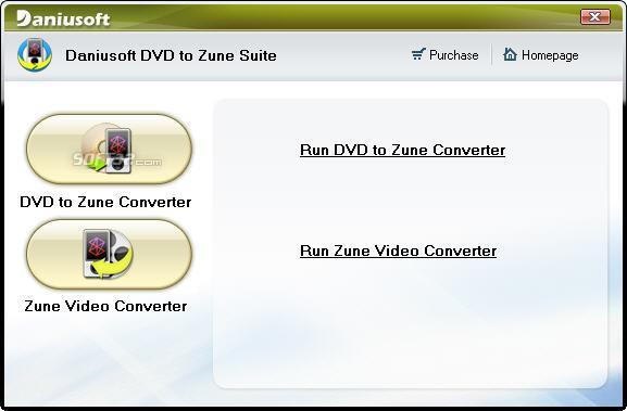Daniusoft DVD to Zune Suite Screenshot