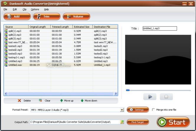 Daniusoft Audio Converter Suite Screenshot 5