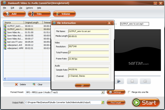 Daniusoft Audio Converter Suite Screenshot 6
