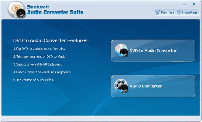 Daniusoft Audio Converter Suite Screenshot 1