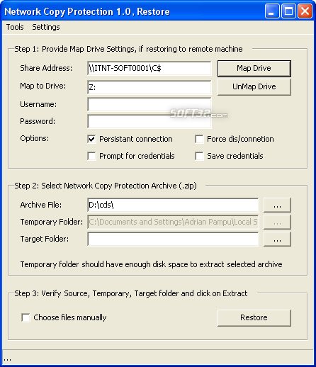 Network Copy Protection Screenshot 2