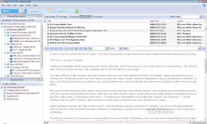 eSobi Screenshot 2