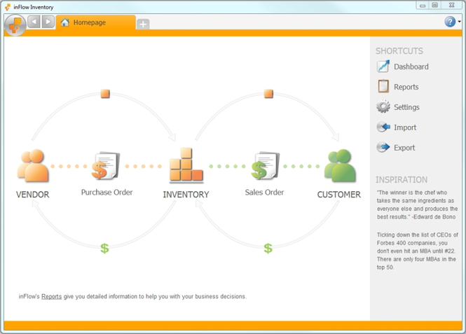 inFlow Inventory Software Free Edition Screenshot 1