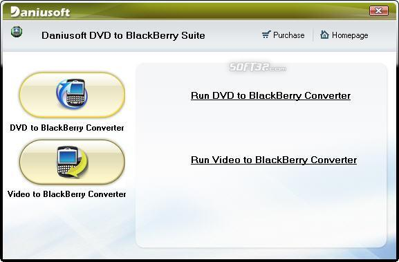 Daniusoft DVD to BlackBerry Suite Screenshot 1