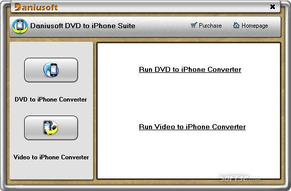 Daniusoft DVD to iPhone Suite Screenshot