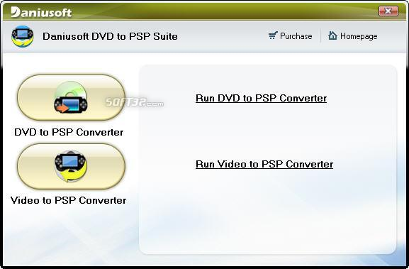 Daniusoft DVD to PSP Suite Screenshot