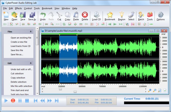 CyberPower Audio Editing Lab Screenshot