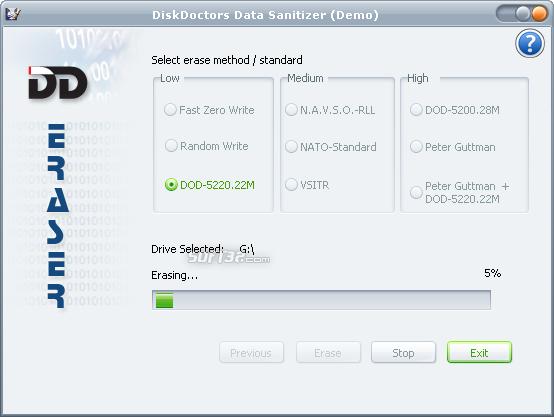 Disk Doctors Data Sanitizer Screenshot 3
