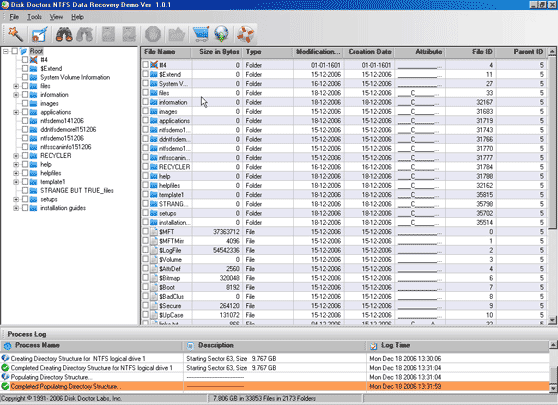 Disk Doctors NTFS Data Recovery Screenshot 1