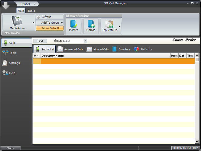 SPA Call Manager Screenshot