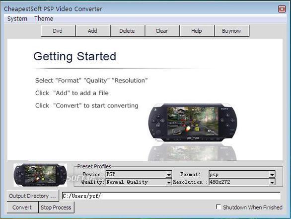 CheapestSoft PSP Video Converter Screenshot 2