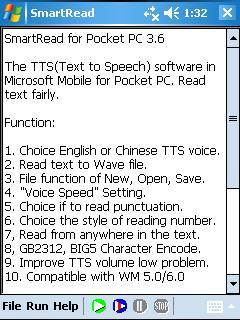 SmartRead for Pocket PC Screenshot 2
