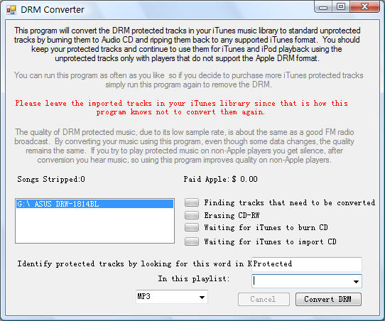 DRM Converter for Windows Screenshot