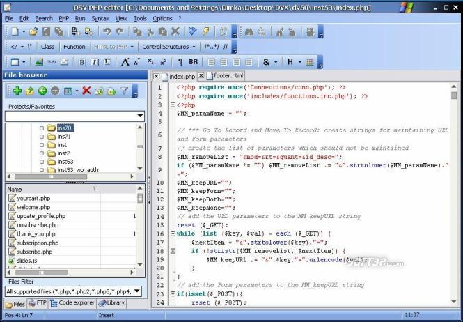 DSV PHP Editor Screenshot 3