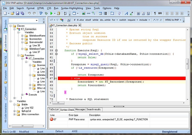 DSV PHP Editor Screenshot 1