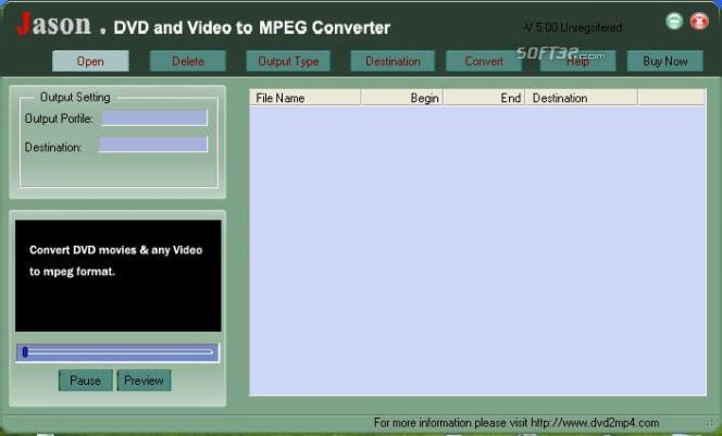 Jason DVD Video to MPEG Converter Screenshot 3