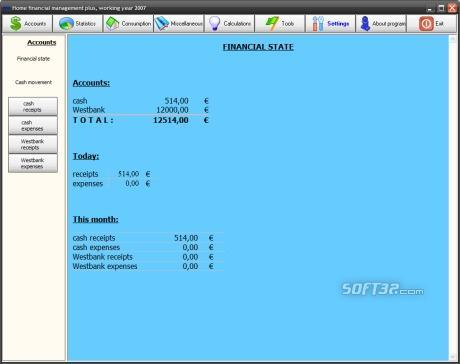 Home financial management plus Screenshot