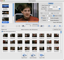 Xilisoft Video Snapshot for Mac Screenshot