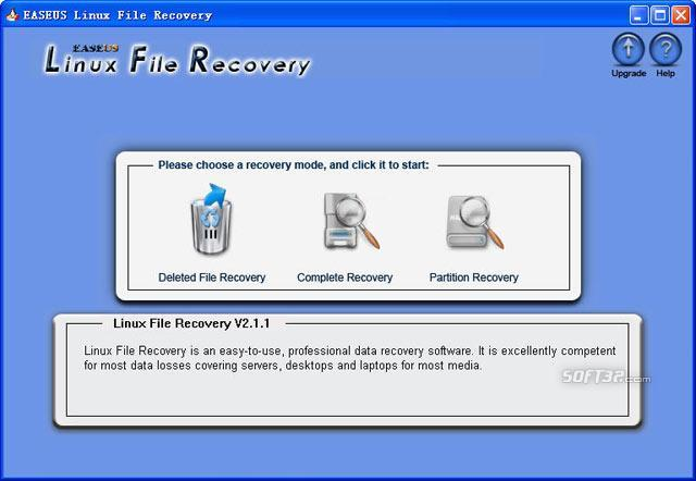 EASEUS Linux File Recovery Screenshot 2