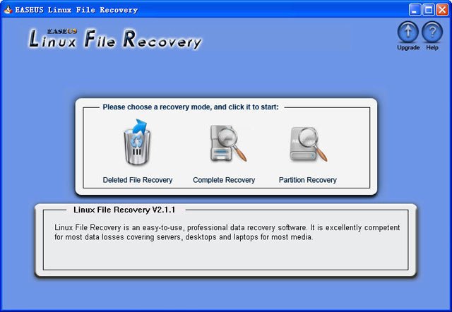 EASEUS Linux File Recovery Screenshot 1
