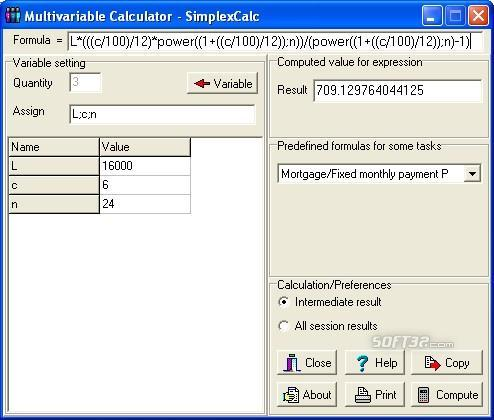 Multivariable Calculator - SimplexCalc Screenshot 2