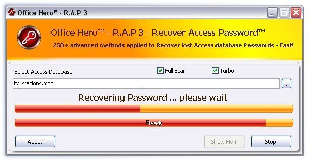 Office Hero - Recover Access Passwords Screenshot