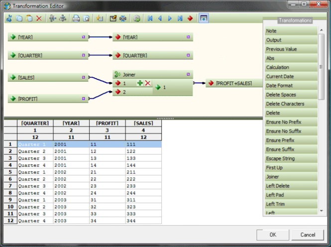 Advanced ETL Processor Screenshot