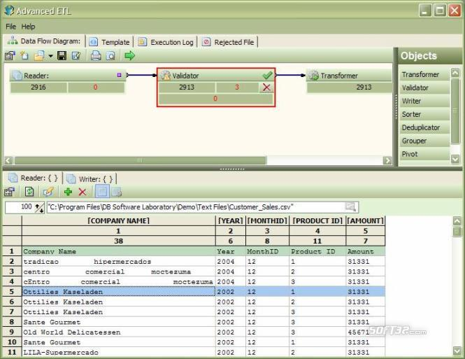 Advanced ETL Processor Screenshot 2