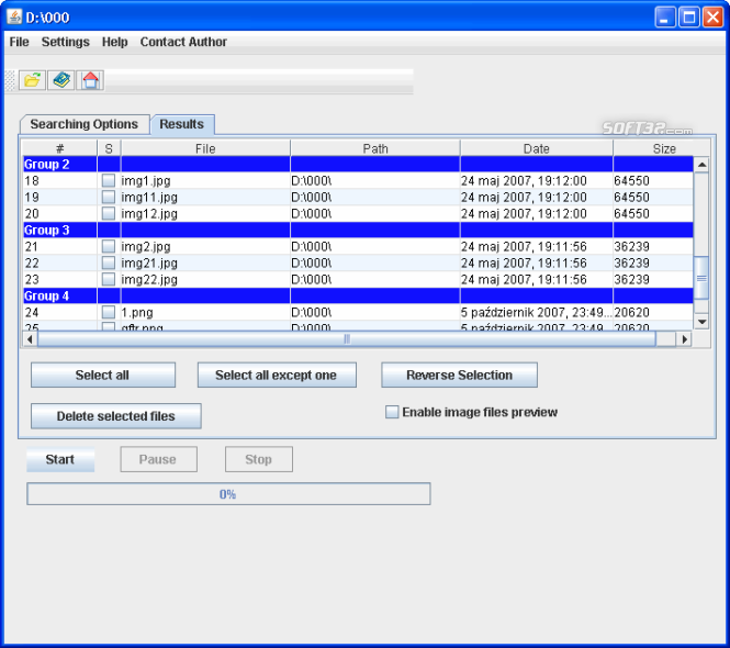 Duplicate Files Searcher Screenshot 2