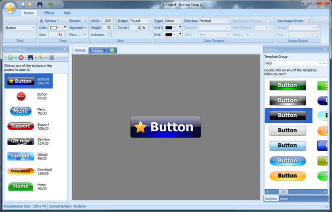 Button Shop Screenshot