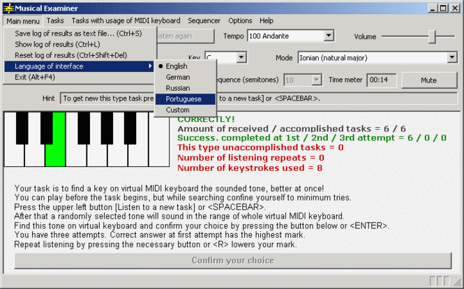 Musical Examiner Screenshot