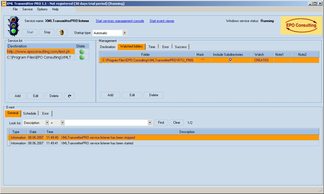 XML Transmitter PRO Screenshot