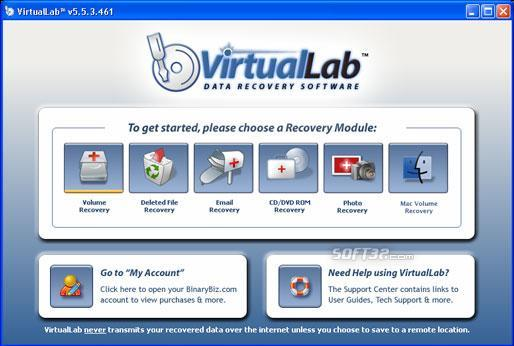 Data Recovery Software - VirtualLab Screenshot 3
