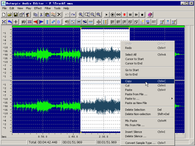 Naturpic Audio Editor Screenshot