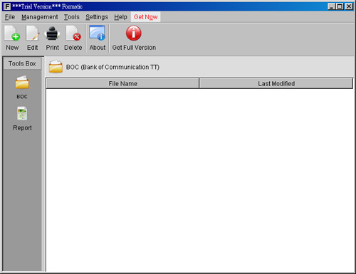 Formatic Form Printing Software Screenshot