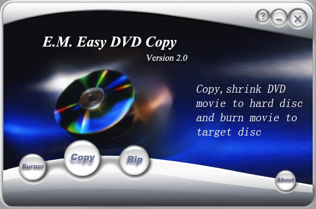 E.M. Easy DVD Copy Screenshot 1