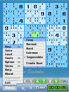 Impossible Sudoku For Symbian S60 V3 Screenshot